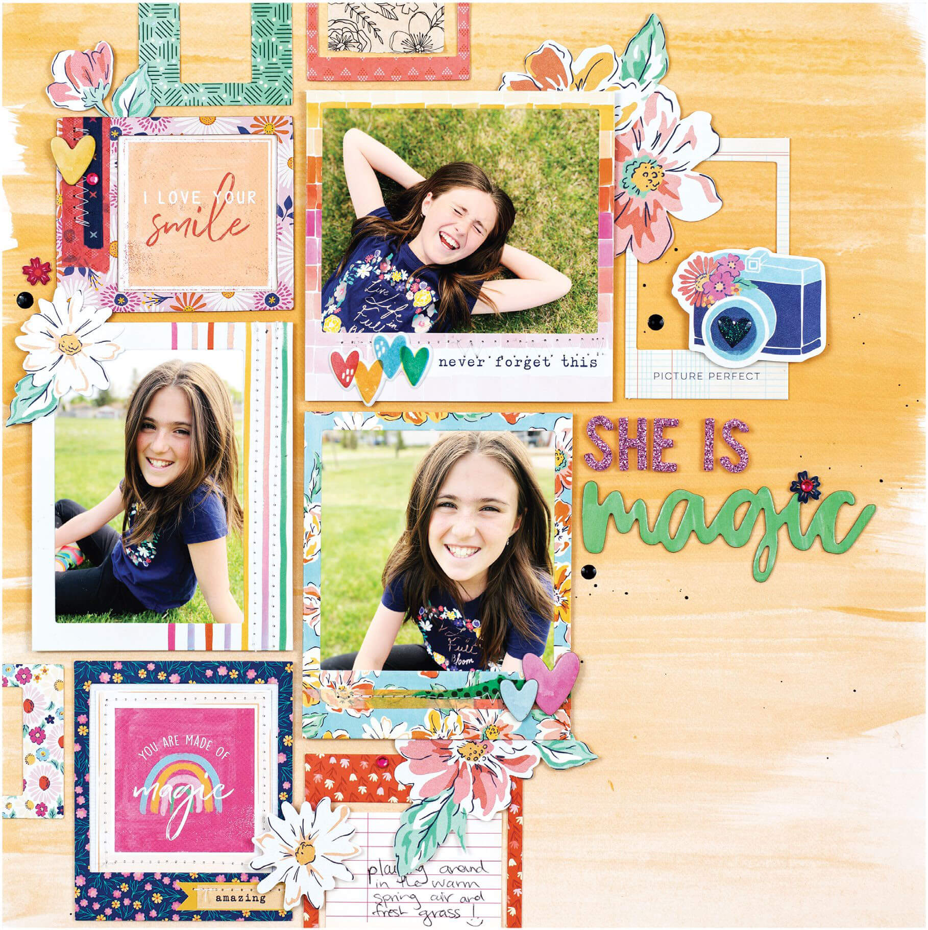Scrapbook & Cards Today - Spring 2020 - She is Magic layout by Nicole Nowosad