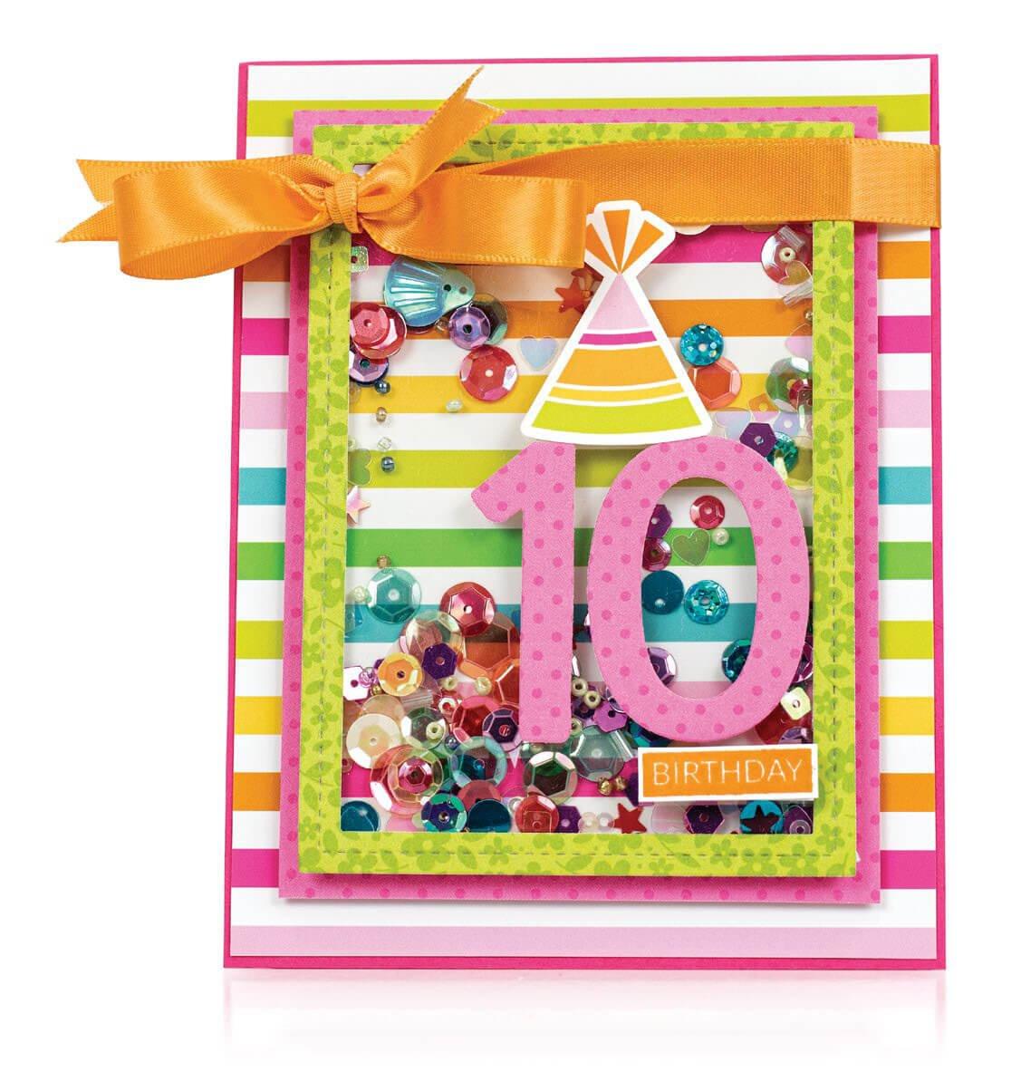 Scrapbook & Cards Today - Spring 2020 - 10th Birthday card by Latisha Yoast