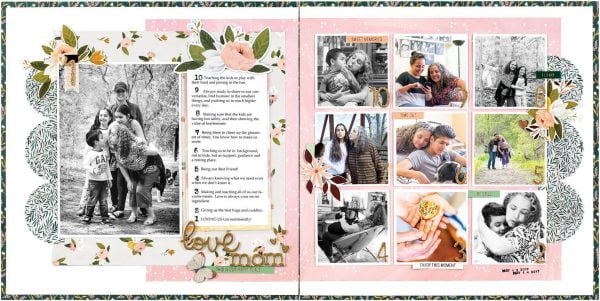Scrapbook & Cards Today - Spring 2020 - Love Mom layout by Nathalie DeSousa