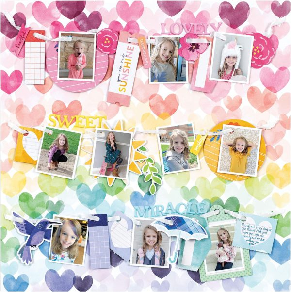 Scrapbook & Cards Today - Spring 2020 - Lovely Sweet Miracle layout by Paige Evans