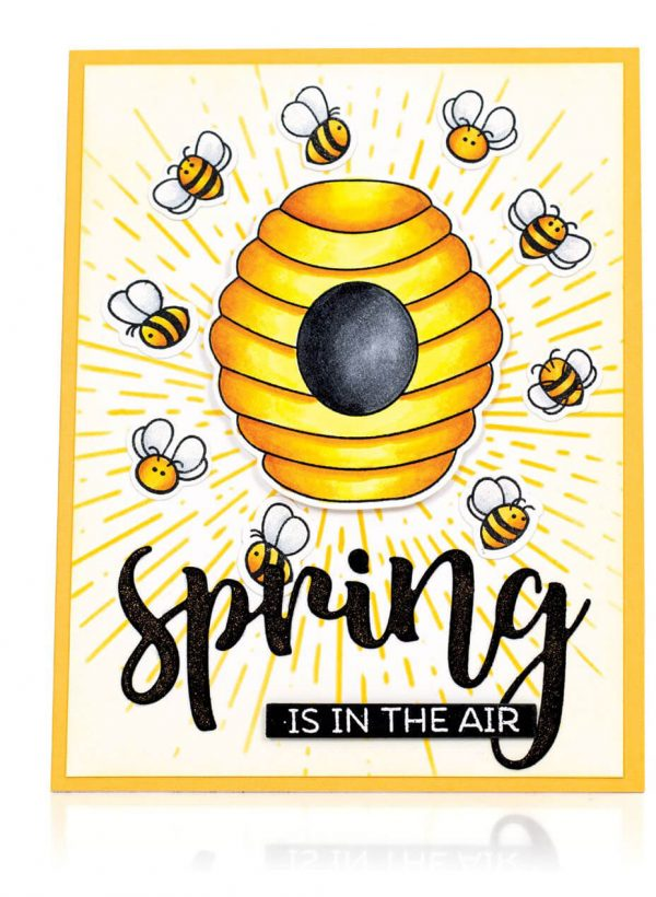 Scrapbook & Cards Today - Spring 2020 - Spring Is In The Air card by Mindy Eggen