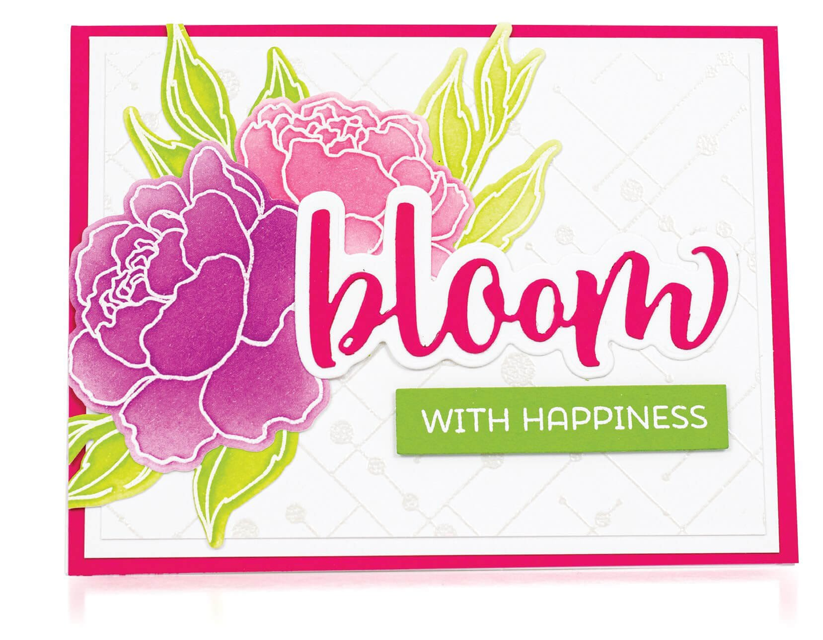 Scrapbook & Cards Today - Spring 2020 - Bloom With Happiness card by Mindy Eggen