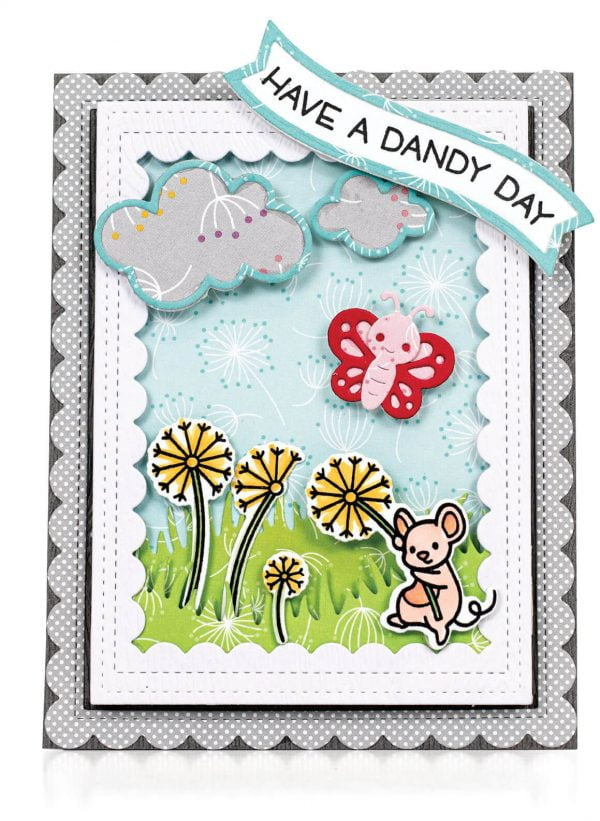 Scrapbook & Cards Today - Spring 2020 - Have a Dandy Day card by Latisha Yoast