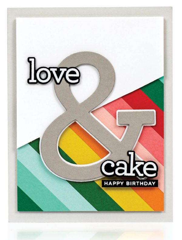 Scrapbook & Cards Today - Spring 2020 - Love & Cake card by Laura Bassen