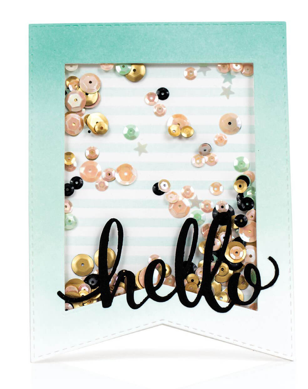 Scrapbook & Cards Today - Spring 2020 - Hello card by Laurie Willison