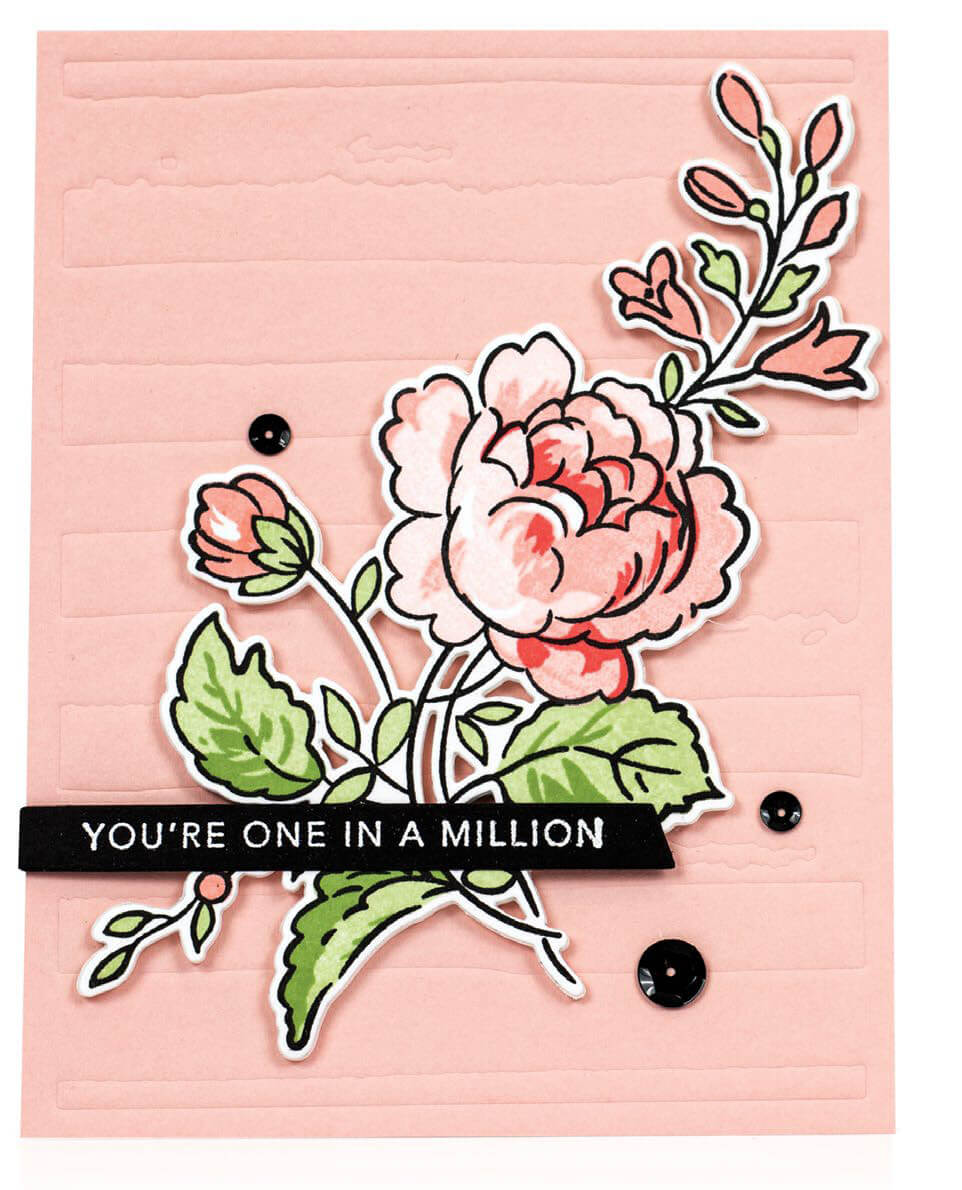 Scrapbook & Cards Today - Spring 2020 - You're One In A Million card by Laurie Willison