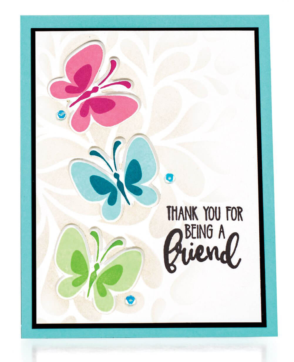 Scrapbook & Cards Today - Spring 2020 - Thank You For Being A Friend card by Gina Krupsky