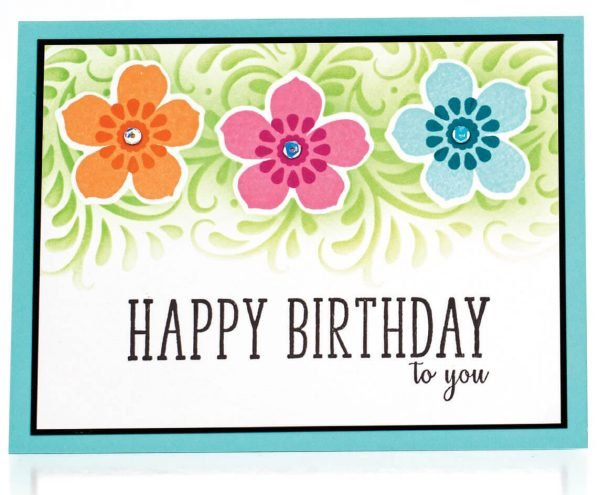 Scrapbook & Cards Today - Spring 2020 - Happy Birthday to You card by Gina Krupsky