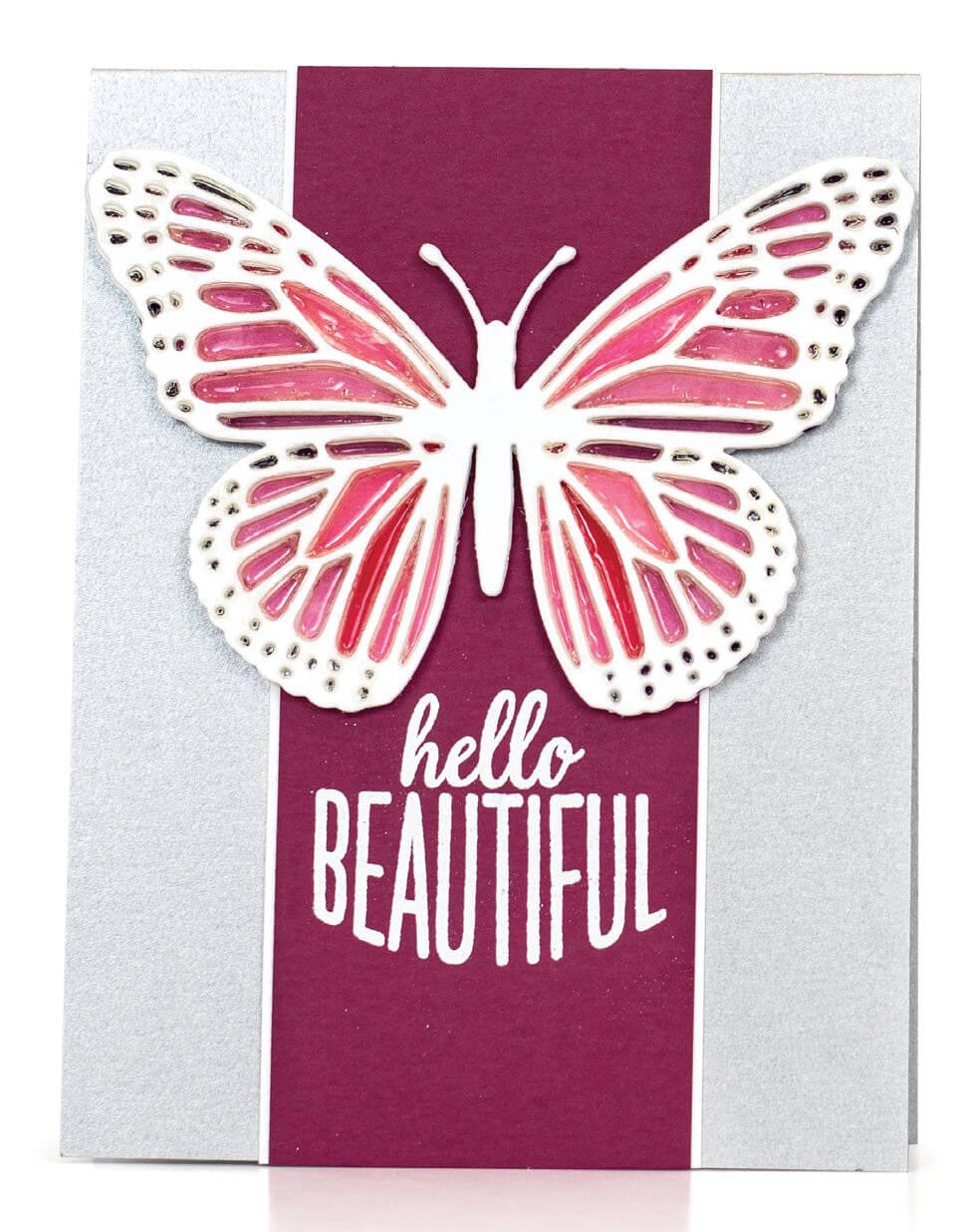 Scrapbook & Cards Today - Spring 2020 - Hello Beautiful card by Jennifer McGuire