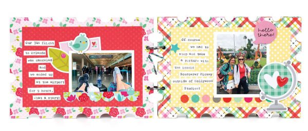 Scrapbook & Cards Today - Spring 2020 - Disney World mini album by Tegan Skwiat