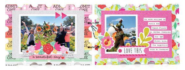 Scrapbook & Cards Today - Spring 2020 - Disney World mini album by Tegan Skwiat