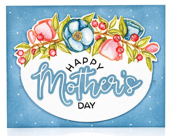 Scrapbook & Cards Today - Spring 2020 - Happy Mother's Day card by Galino Filippenko