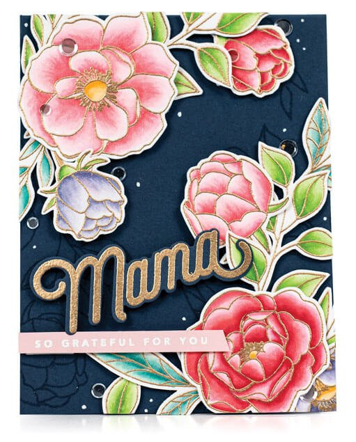Scrapbook & Cards Today - Spring 2020 - Mama card by Nina Marie Trapani