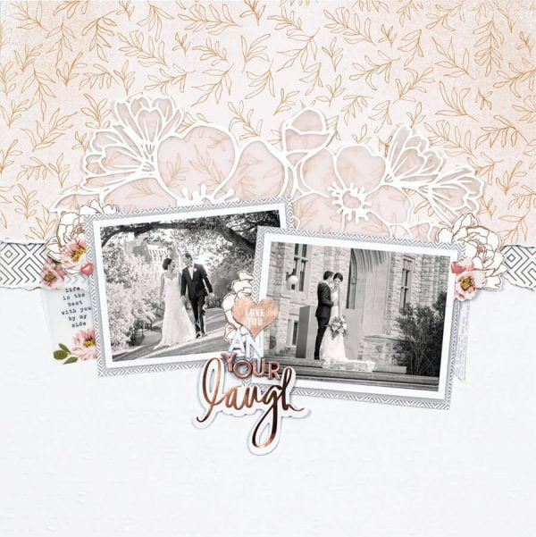 Scrapbook & Cards Today - Spring 2020 - Love You And Your Laugh layout by Mari Clarke