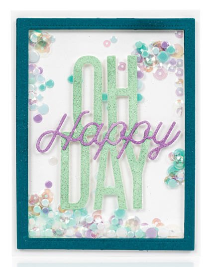 Scrapbook & Cards Today - Spring 2020 - Oh Happy Day card by Angela Simpson