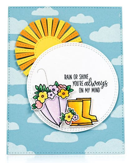 Scrapbook & Cards Today - Spring 2020 - Rain or Shine card by Veronica Zalis