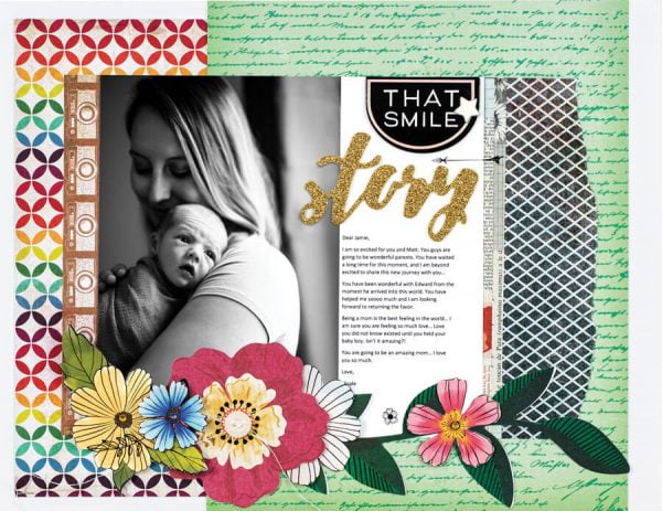Scrapbook & Cards Today - Spring 2020 - That Smile layout by Nicole Martel