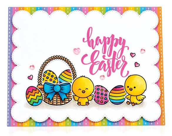 Scrapbook & Cards Today - Spring 2020 - Happy Easter card by Mendi Yoshikawa