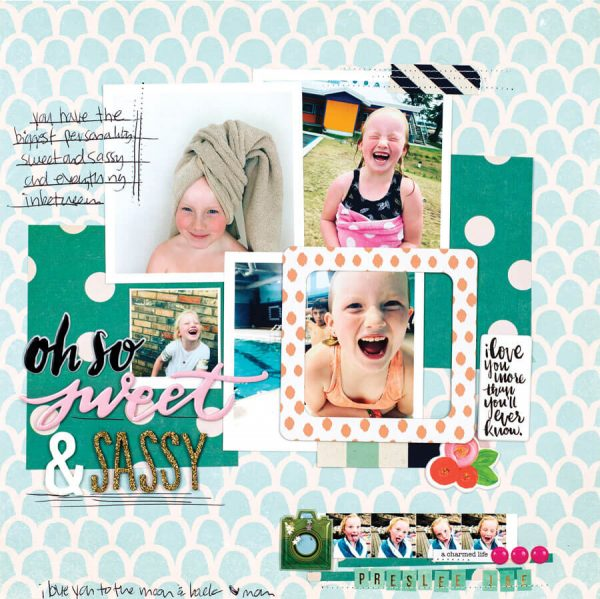 Scrapbook & Cards Today - Spring 2020 - Oh So Sweet & Sassy layout by Meg Barker