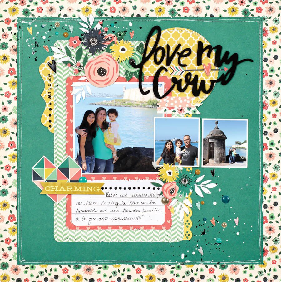 Scrapbook & Cards Today - Spring 2020 - Love My Crew by Rebeca Ruiz