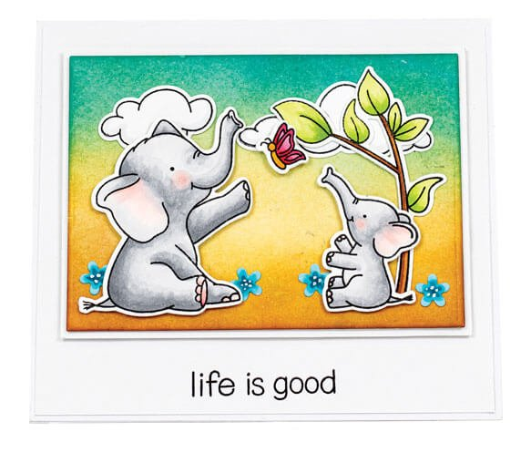 Scrapbook & Cards Today - Spring 2020 -Life Is Good card by Karin Akesdotter
