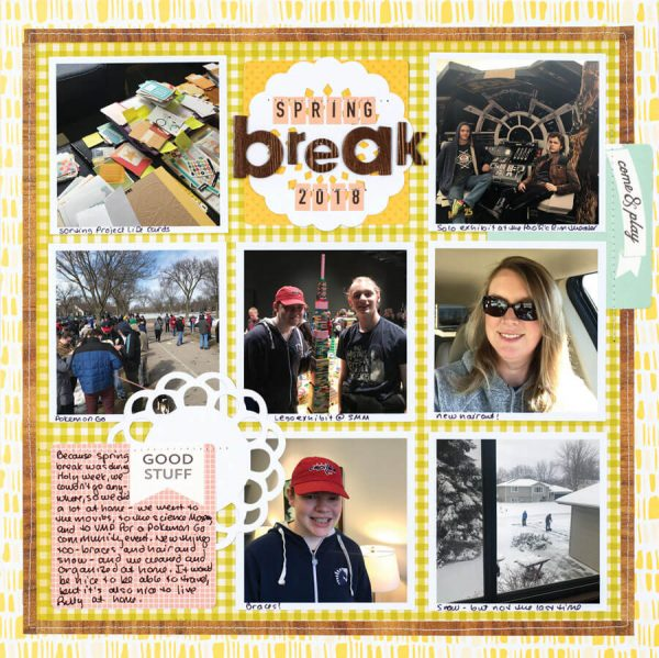 Scrapbook & Cards Today - Spring 2020 -Spring Break 2018 layout by Jennifer Larson