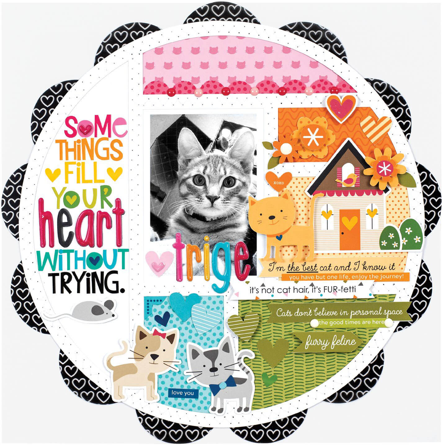 Scrapbook & Cards Today - Spring 2020 - Some Things Fill Your Heart Without Trying by Stephanie Buice