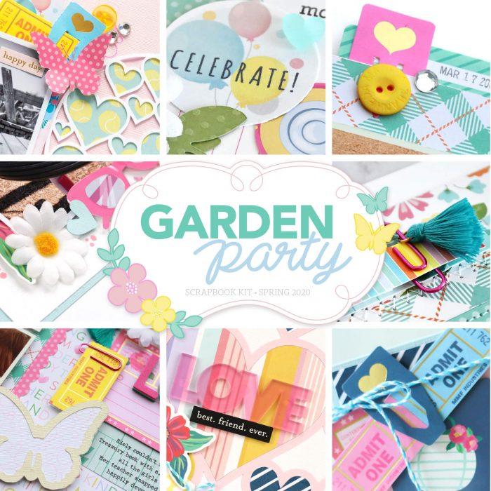 Scrapbook & Cards Today - SCT Delivered Scrapbook Kit - Garden Party