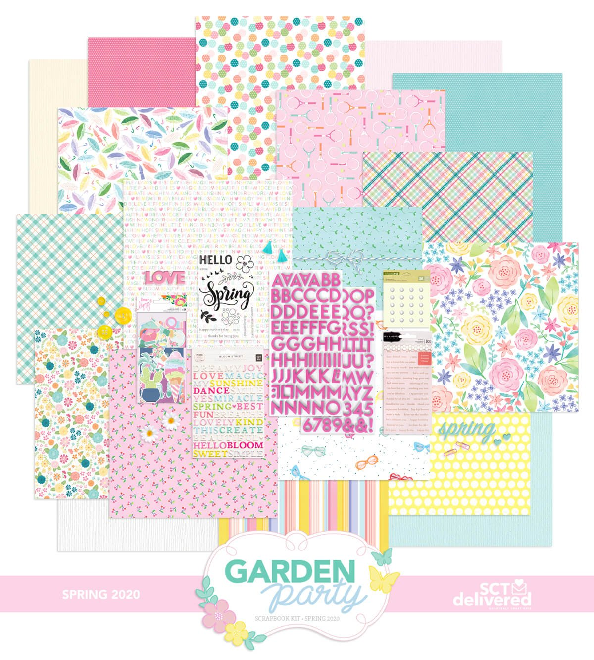 Scrapbook & Cards Today - SCT Delivered Scrapbook Kit - Garden Party