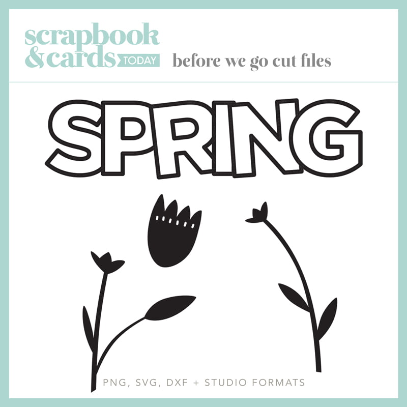 Scrapbook & Cards Today - Spring 2020 - Spring Cut Files