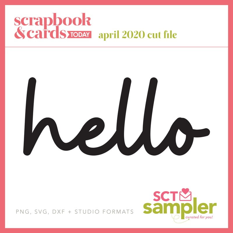 April 2020 - SCT Sampler Cut File