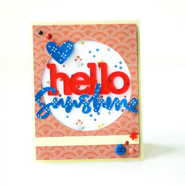 SCT Delivered Kit - Fun in the Sun - Hello Sunshine card by Latisha Yoast
