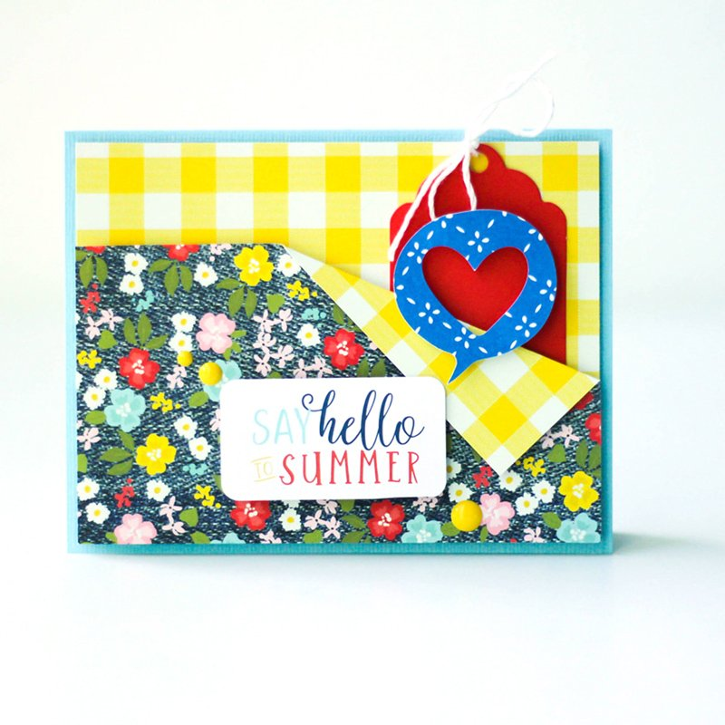 SCT Delivered Kit - Fun in the Sun - Hello Summer card by Latisha Yoast