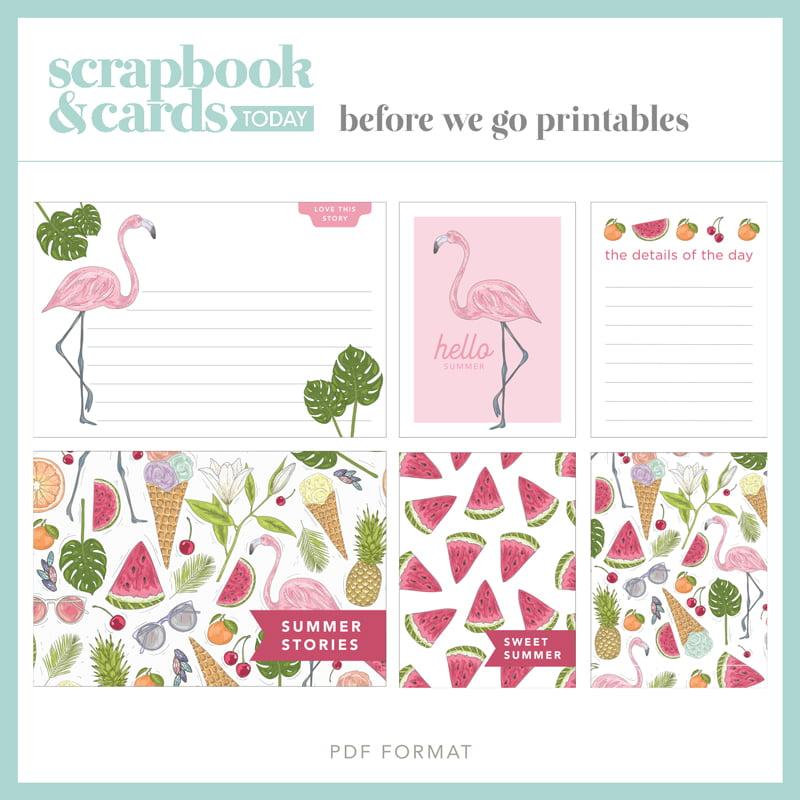 Scrapbook & Cards Today magazine - Summer 2020 - Summer Journaling Card Set
