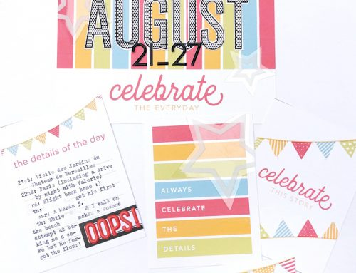 Free Printables Recording Celebrations with Nathalie Leonelli!