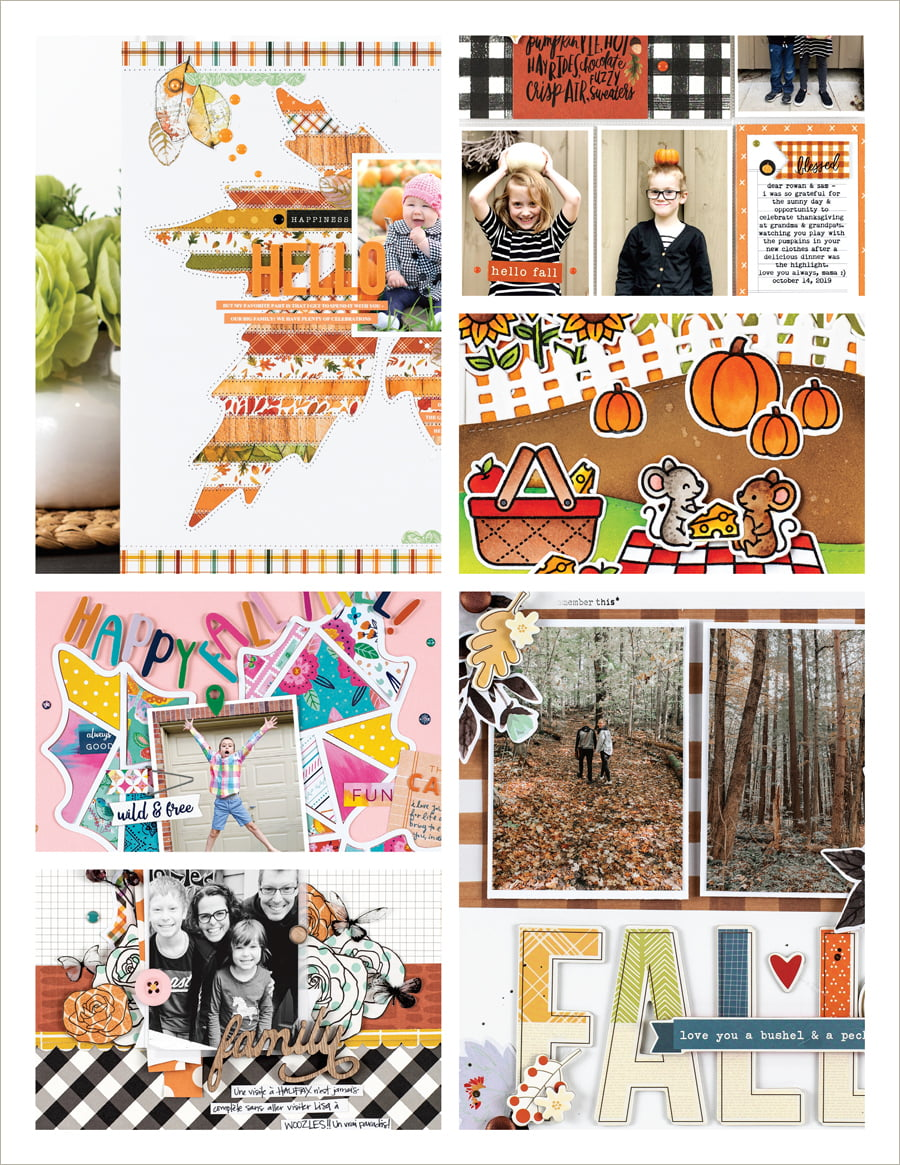 Scrapbook & Cards Today - Fall 2020 - Issue Collage