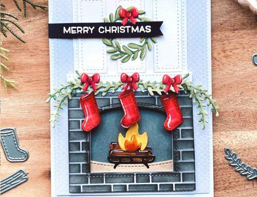 Fireplace Fun Card & Tags with Lawn Fawn