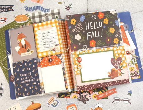 A Simple Stories Cozy Days Flipbook by Jana Eubank!