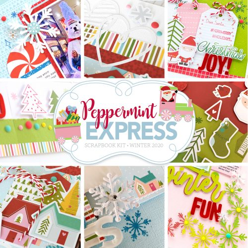 Scrapbook & Cards Today - Peppermint Express Scrapbook Kit