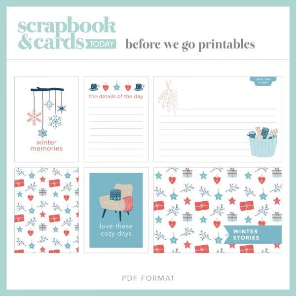 Scrapbook & Cards Today - Winter 2020 Journaling Card Set