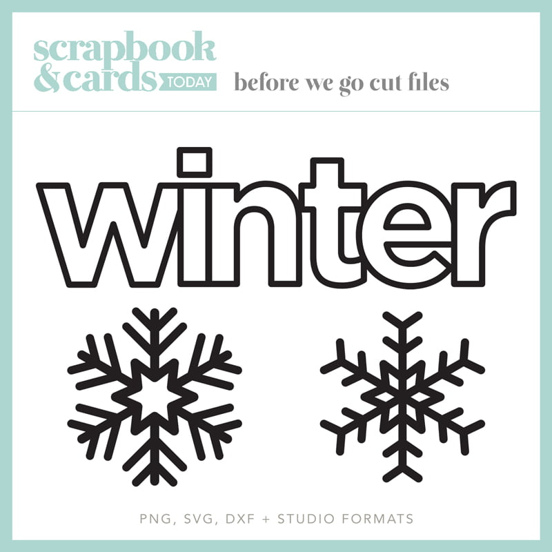 Scrapbook & Cards Today - Winter 2020 Cut FIles