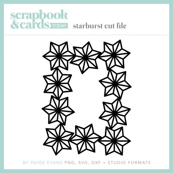 Scrapbook & Cards Today - Starburst Cut File by Paige Evans
