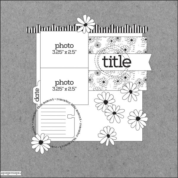 Scrapbook & Cards Today - Winter 2020 - Layout Sketch