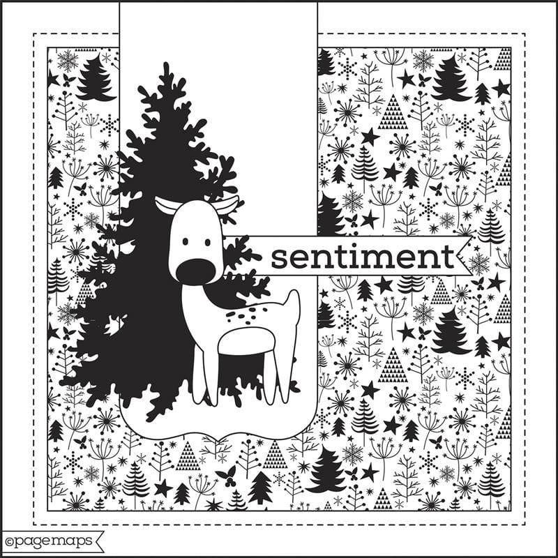 Scrapbook & Cards Today - Winter 2020 - Card Sketch