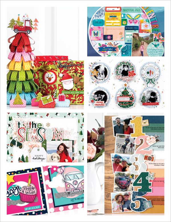 Scrapbook & Cards Today Winter 2020 Issue Collage