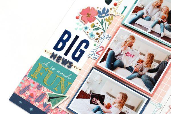 SCT Magazine - Scrapbook 101: BTTB - Big News by Meghann Andrew