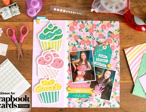 15th Birthday Week: A Birthday Layout with Lisa Dickinson + GIVEAWAYS!