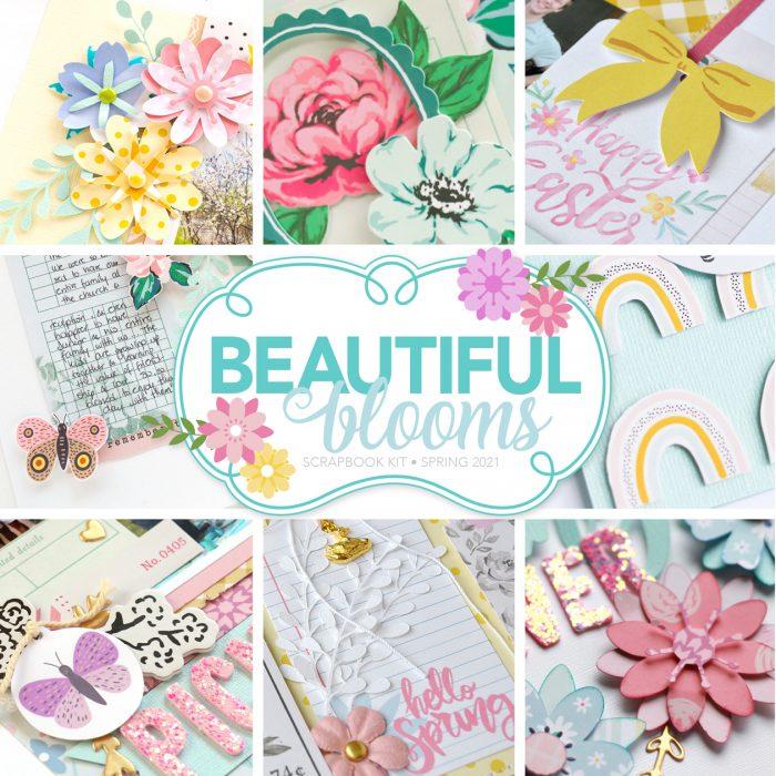 SCT Delivered - Beautiful Blooms Scrapbook Kit