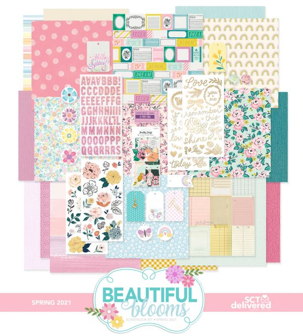 SCT Delivered - Beautiful Blooms Scrapbook Kit