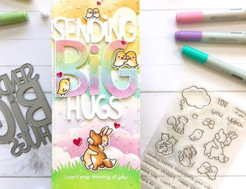 Sending BIG Hugs with Lawn Fawn!